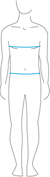 Knox Mens Size Guide - Upperbody