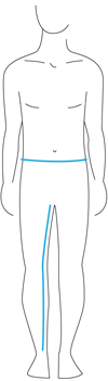 Knox Mens Size Guide - Lowerbody
