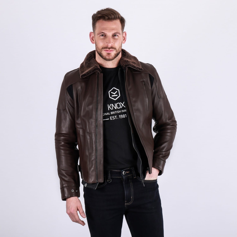 Knox Ford Leather Jacket Black Motorcycle Jacket New RRP £299.99!!