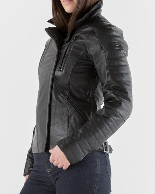 Roberta ladies leather biker jacket